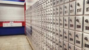Boxes at Tuktoyaktuk's post office