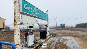 A gas bar in Tuktoyaktuk
