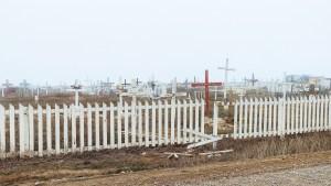 A graveyard in Tuktoyaktuk