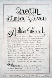 A photo of the Treaty 11 text