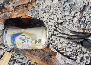 Jeremy MacDonald's photo of what he termed an improvised explosive device involving a Molson can