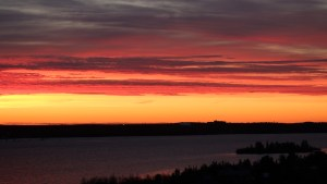 Sunset at Pilots' Monument in Yellowknife