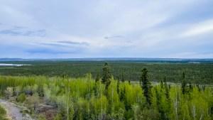 Photo of the Inuvik landscape. Luisa Esteban/ Cabin Radio.