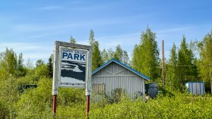 Happy Valley Park in Inuvik. Luisa Esteban/ Cabin Radio.