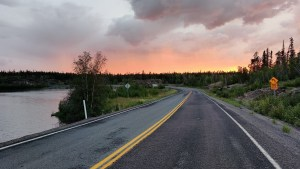 The Ingraham Trail, or Highway 4, north of Yellowknife