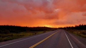 The Ingraham Trail on a July evening in 2021