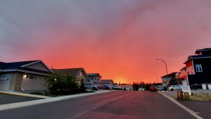 Homes in Yellowknife's Niven Lake as the sun sets on a July evening in 2021