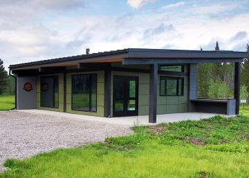 The new Salt River day-use building in Wood Buffalo National Park. Photo: Parks Canada NWT
