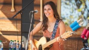 Grace Clark performing at Folk on the Rocks 2021. Sarah Pruys/ Cabin Radio.
