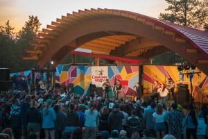 Main stage at Folk on the Rocks 2021. Sarah Pruys/ Cabin Radio.