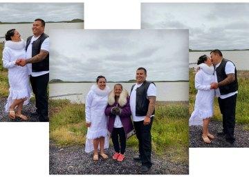 Erica and Kelly Donavan wed on August 2 in Tuktoyaktuk