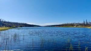 A lake southwest of Reid Lake in August 2021