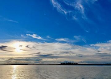Islands on Jennejohn Lake in August 2021
