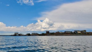 Dettah is seen from Great Slave Lake