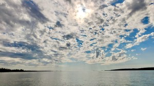 Cloud over Great Slave Lake in August 2021