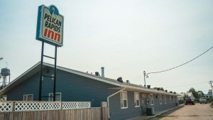 The Pelican Rapids Inn in Fort Smith in August 2021. Sarah Pruys/Cabin Radio