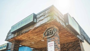 Dirty O'Fergies Bar and Grill in Fort Smith in August 2021. Sarah Pruys/Cabin Radio