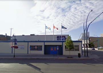 A building proposed as a temporary day shelter is seen in a Google Streetview image in its former life as Yellowknife's Legion building