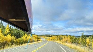 A file photo of the Ingraham Trail in September 2021. Sarah Pruys/Cabin Radio