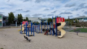 A playground outside Yellowknife's Weledeh and St Pat's schools