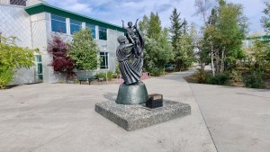 The grounds of Yellowknife's St Pat's high school