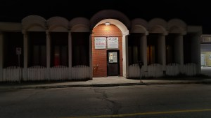 Yellowknife's day shelter and sobering centre at night
