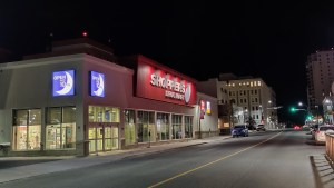 Downtown Yellowknife at night