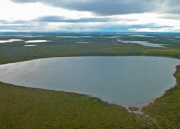 A photo of Point Lake provided in an Arctic Canadian presentation