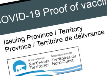 A detail from an NWT government proof-of-vaccination credential
