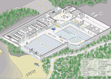 A view of how a Yellowknife aquatic centre might look from a November 2020 concept design report